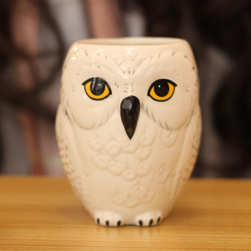 Taza de cerámica con motivo de búho