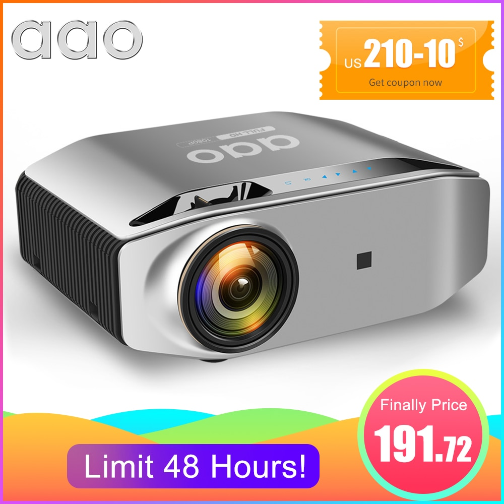 AAO Native 1080p Full HD Projector YG620 LED Proyector 1920x 1080P 3D Video YG621 Wireless WiFi Mult