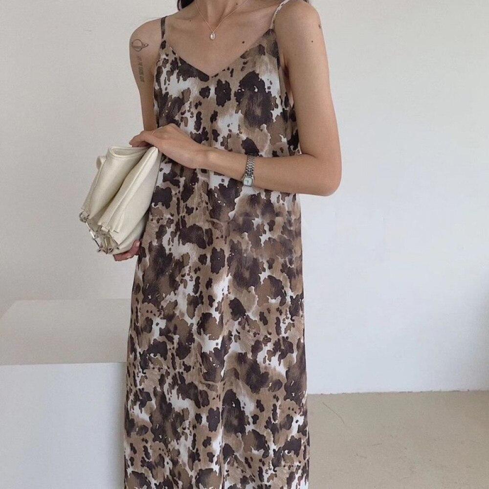 toppies 2021 Sexy printing sundress womens camisole midi dress seyx sleeveless vestidos summer clothes