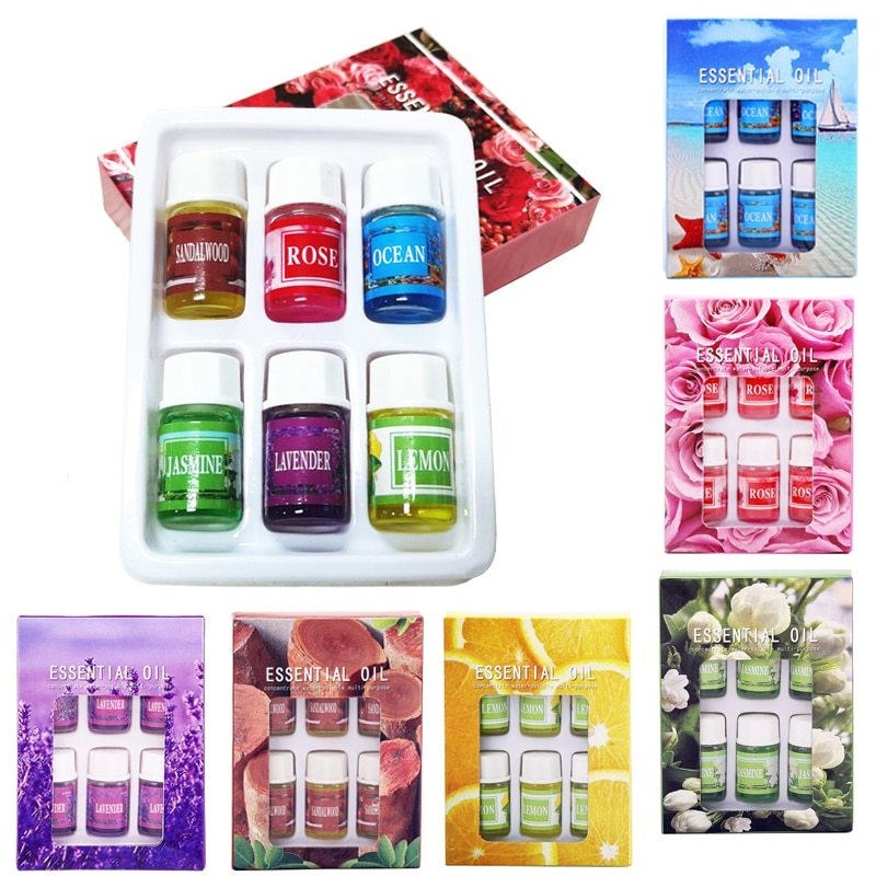 6Pcs Water Soluble Essential Oil Used For Humidifier Air Purifier Incense Burner Aromatherapy Lamp S
