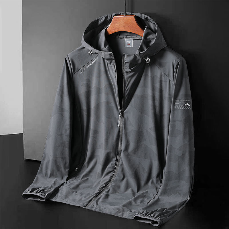 Летняя мужская корейская мода повседневная спортивная дышащая Солнцезащитная легкая куртка для улицы куртка большого размера с длинным ру...