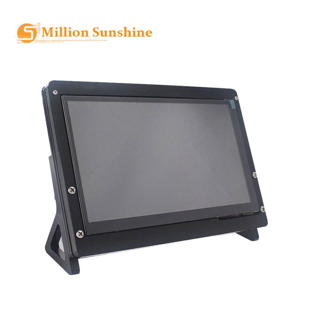 new 7 inch usb hdmi lcd display monitor capacitive touch screen holder case for raspberry pi windows jetson nano 7 inch LCD Display Touch Screen Housing Bracket for Raspberry Pi 4/3B+/3B Acrylic Holder for 7 inch Raspberry Pi LCD RPI136