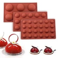 chocolate silicone moulds 3pcsset hemisphere shape 61524 holes food grade baking accessories candy mold bakeware kitchen gadg
