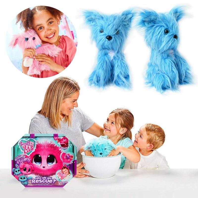 Surprise blind box cute big ear mini animal bath pet cat dog rabbit plush toy doll color childrens toy companion gift