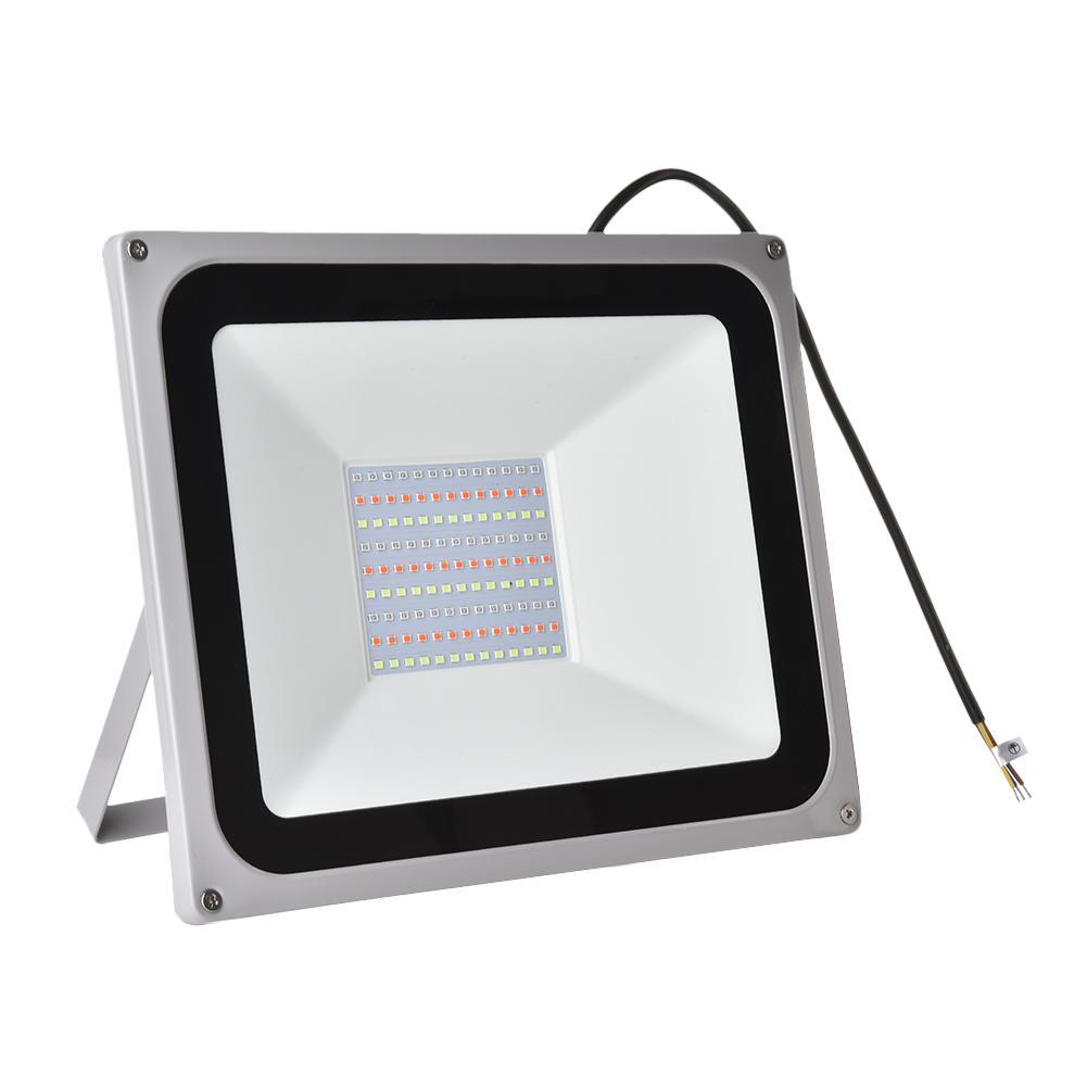 2 adet/takım 110V LED projektör 50W 100W RGB reflektör LED projektör su geçirmez IP65 spot duvar açık ışık hızlı gemi