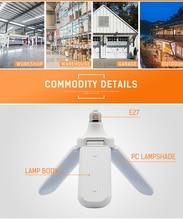 Plafonnier déformable de Ligh de Garage à trois feuilles de lampe à LED pliant avec le capteur de Radar pour léclairage de magasin de couloir de cuisine