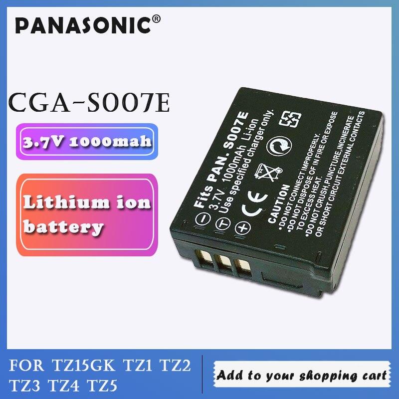Original de Panasonic 3,7 v 1000mah CGA-S007E CGA-S007 CGAS007E batería de litio recargable para LUMIX DMC-TZ1 TZ2 TZ3 Cámara células