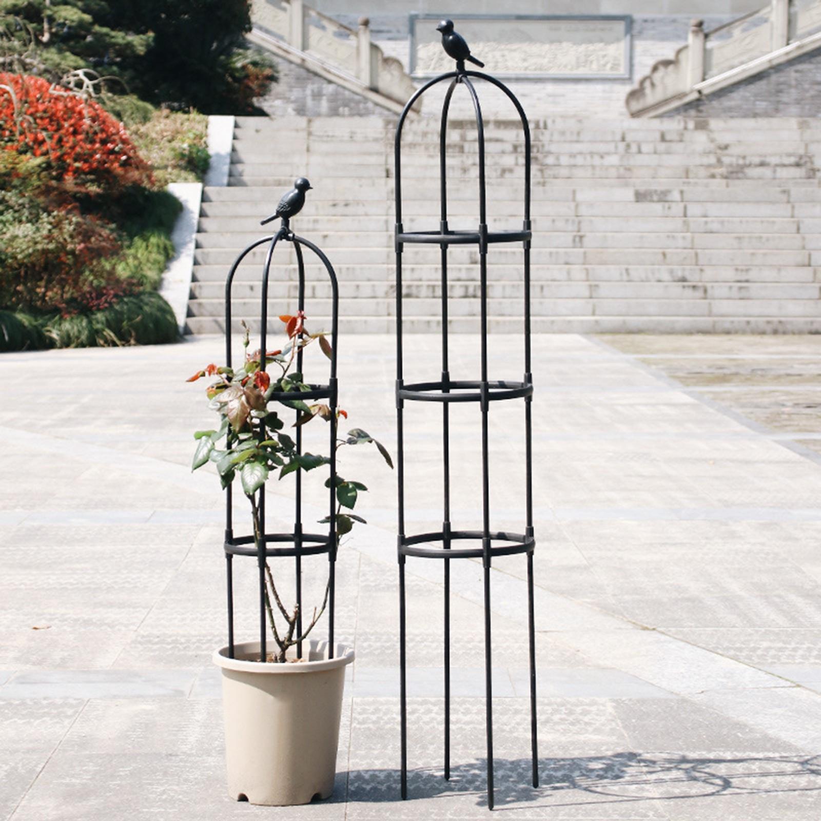 النباتات الزهور تعريشة تقف الجرف كليماتيس الصلب البلاستيك المغلفة الحديد 1 مجموعة 150 سنتيمتر الكرز الوردي دائم البستنة تسلق الإطار