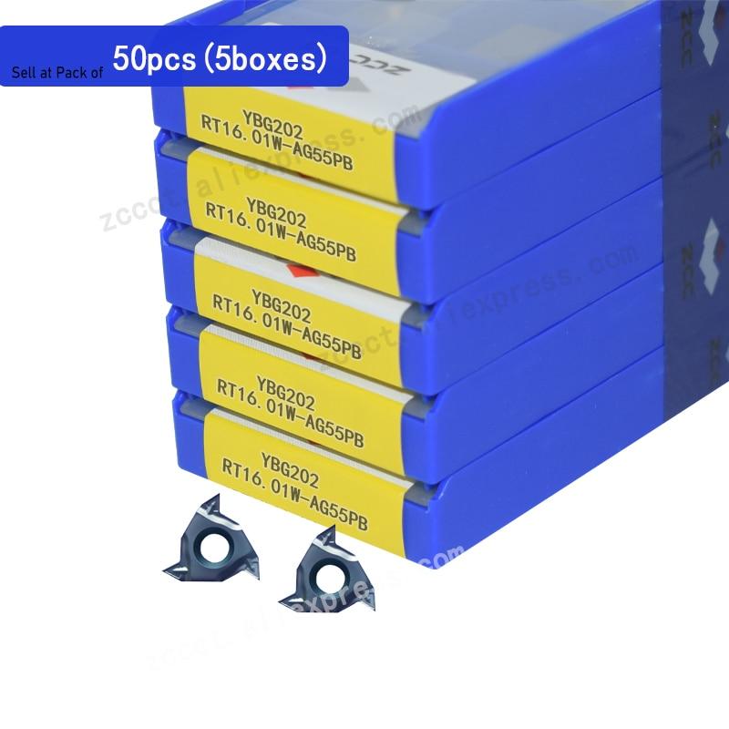 Placa de Rosca do Carboneto Zcc tipo Fino Pces Rosqueamento Inserção Ybg202 55 Graus 16erag55 50 Rt16.01w-ag55pb