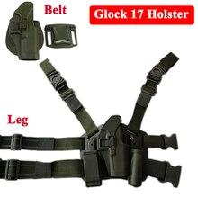 Glock 17 Pistool Riem Holsters Tactische Airsoft Air Gun Jacht Apparatuur Hand Gun Riem/Been Holster Voor Glock 17 19 22 23 31 32