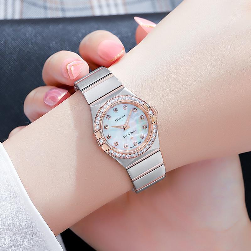 OUPAI 2021 New Arrival Constellation Design Luxury with Diamond Waterproof Quartz Watch Lady Fashion and Elegant Watch Women enlarge