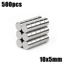 500 pièces 10x5mm Super puissant en vrac petit rond NdFeB néodyme disque aimants Dia 10mm x 5mm N35 terre Rare NdFeB aimant