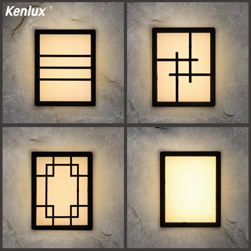 Luz LED de pared de plástico de 20W, lámpara LED de pared para mesita de noche, dormitorio, sala de estar, pasillo, iluminación, lámparas de patio, luces de puerta