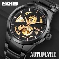 new skmei automatic watch men watch fashion waterproof mens mechanical wristwatches hollow dial watches male relogio masculino