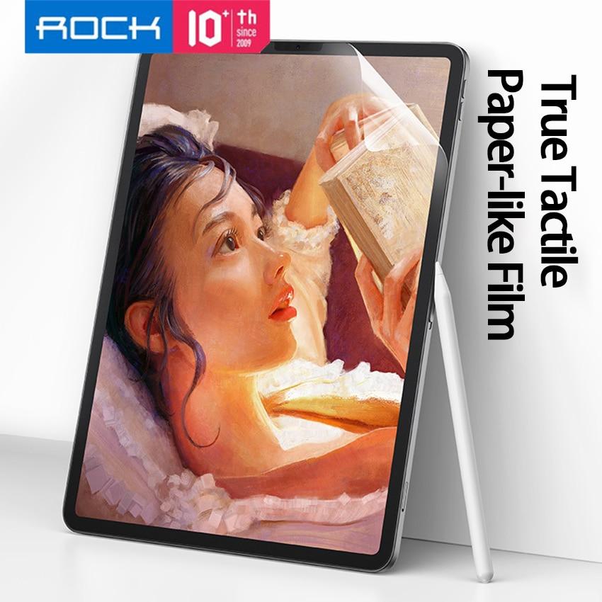 "ROCK Paper-like Film Protector de pantalla mate para iPad Pro 2018 2020 11 ""12,9 pulgadas cobertura completa antiarañazos sin burbujas"