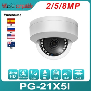 Hikvision Compatible POE IP Camera 5MP Home Security CCTV Camera Ultra 8MP HD Hidden 20M IR  H.265 2MP Security Dome IPC