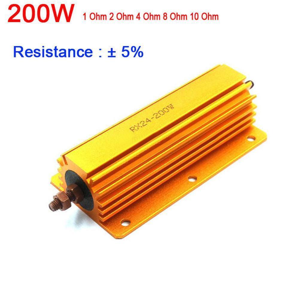 200W Watt Power Metal resistor 1R 2R 4R 8R 10R 1ohm/2ohm/ dummy / test 8ohm amp 4ohm ohm Load Amplifier 10 For tube X4T2