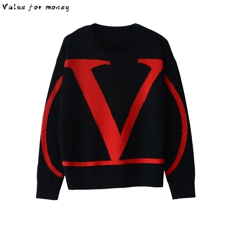 Women's Sweaters Women's Sweaters New Large Size Hedging Long Sleeve Loose Casual Fall Winter Sweaters Fashion Letter
