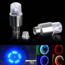 2pcs New Bike Car Motorcycle Wheel Tire Tyre Valve Cap Flash LED Light Spoke Lamp Bicycle Bike Accessories