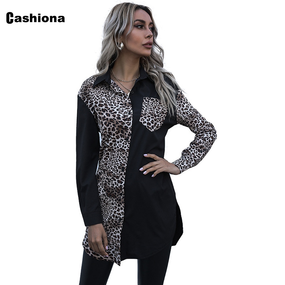 Cashiona 2021 Single-breasted Tops Women Autumn Long Shirt Ladies Elegant Leisure Casual Blouse Femme blusas shirt ropa mujer