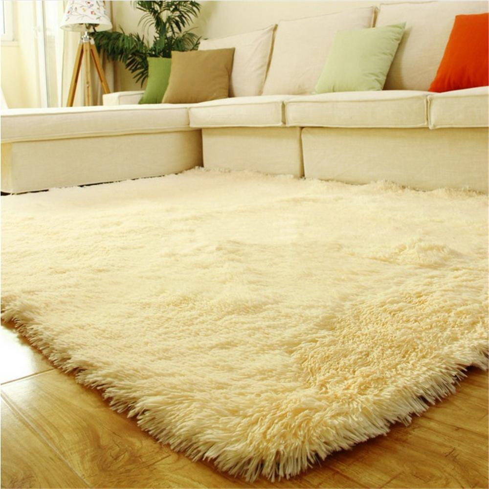 Alfombra para dormitorio de piel Artificial suave, tapis salon, decoración, antideslizante