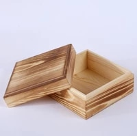 50 unidslote cuadrado de madera caja de almacenamiento caja slida de madera joyera caja de bamb de cajas de almacenamiento