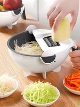 متعددة الوظائف دليل القطاعة المنزلية تقطيع البطاطس رقاقة القطاعة الفجل مبشرة أدوات مطبخ قطاعة الخضراوات مع استنزاف سلة