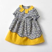 Yg Brand Children\'s Wear Girl\'s Lapel European Style American 2021 Summer New Princess Dress