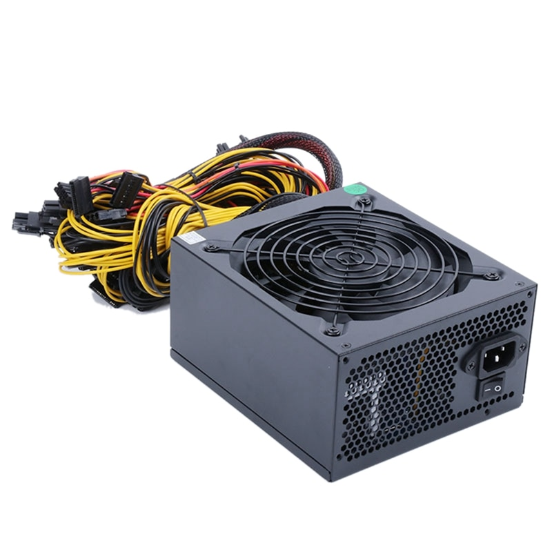 2400 واط الكمبيوتر امدادات الطاقة ل تعدين البيتكوين ATX ETH آلة استخراج المعادن دعم 8 عرض بطاقات GPU 2600 واط ماكس ل جهاز تعدين بيتكوين