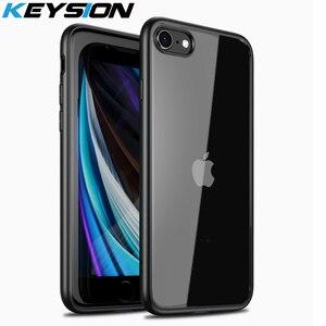 KEYSION Модный чехол для iPhone SE 2020 New SE2, прозрачный матовый ударопрочный чехол для задней панели телефона iPhone XR XS Max X 8 7 Plus