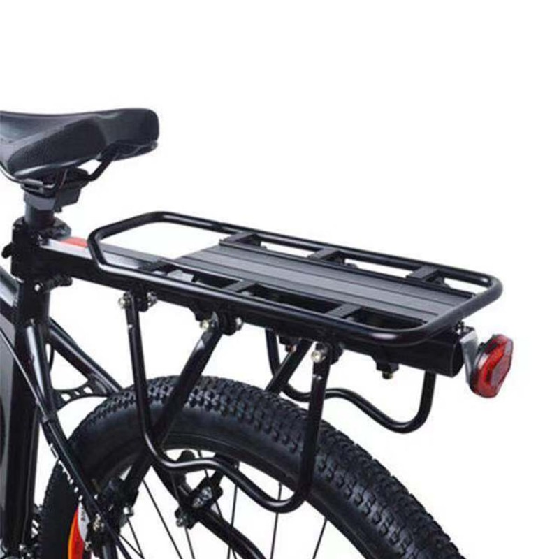 E5BD Aluminum Alloy Bike Rear Rack, Bicycle Rear Back Seat Luggage Rack Holder Carrier for Panniers Bags, Luggage