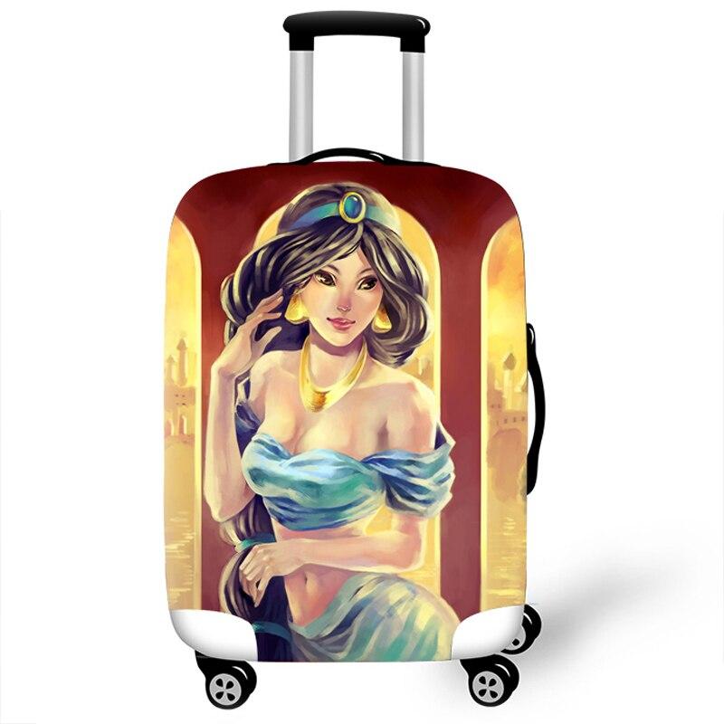 Funda protectora de equipaje elástica para maleta cubierta protectora fundas de carro Fundas de viaje 3D accesorios para niña Aladdin T111