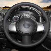 diy hand sewing anti slip wear resistant steering wheel cover for nissan cube 2008 2020 micra 2010 2017 car interior decoration