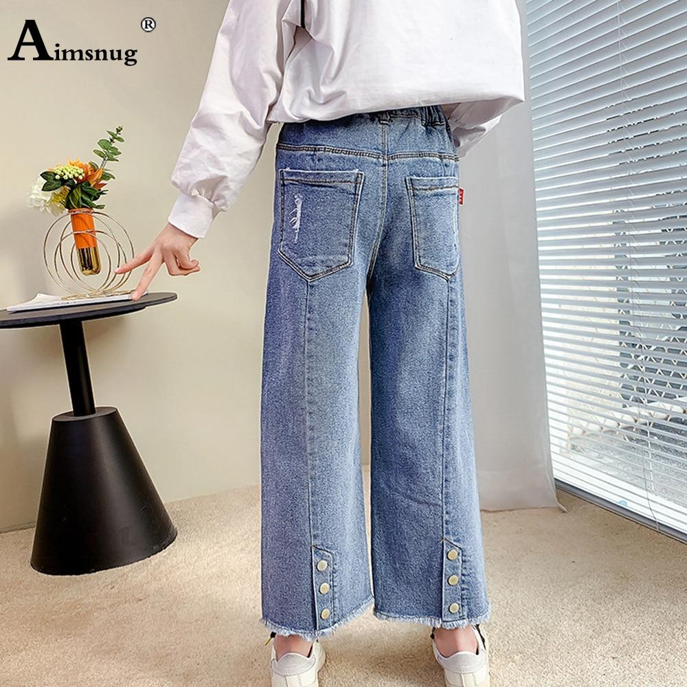 Детские джинсы, брюки из джинсовой ткани, уличная одежда, одежда из джинсовой ткани, осень 2021, прямые брюки, джинсы для маленьких девочек с ка...