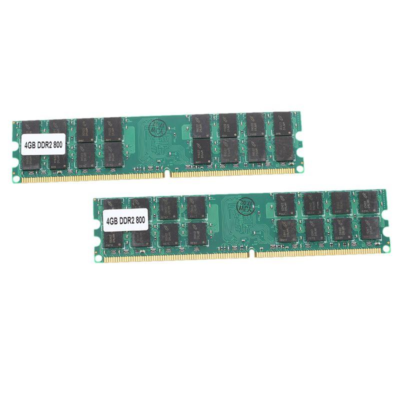 Memoria RAM 8G (2x4G), DDR2 PC2-6400, 800MHz, escritorio, no ECC, DIMM, 240 pines para AMD