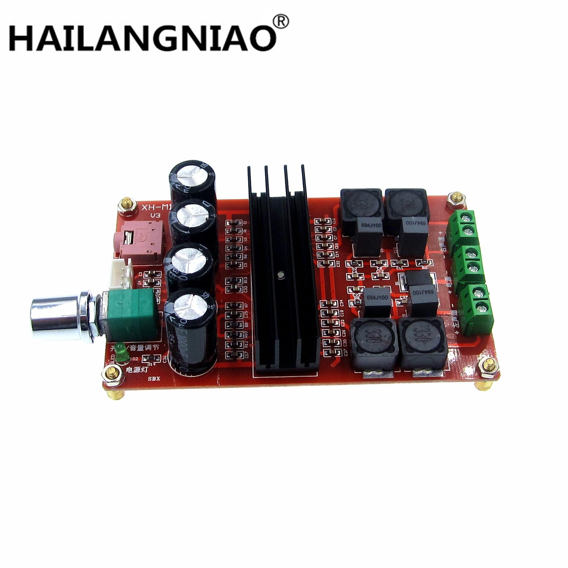 Nuevo tubo de XH-M190 tarjeta de Audio Digital TDA3116D2 potencia Audio Amp 2,0 CLASE D ESTÉREO HIFI amplificador DC12-24V 2*100W