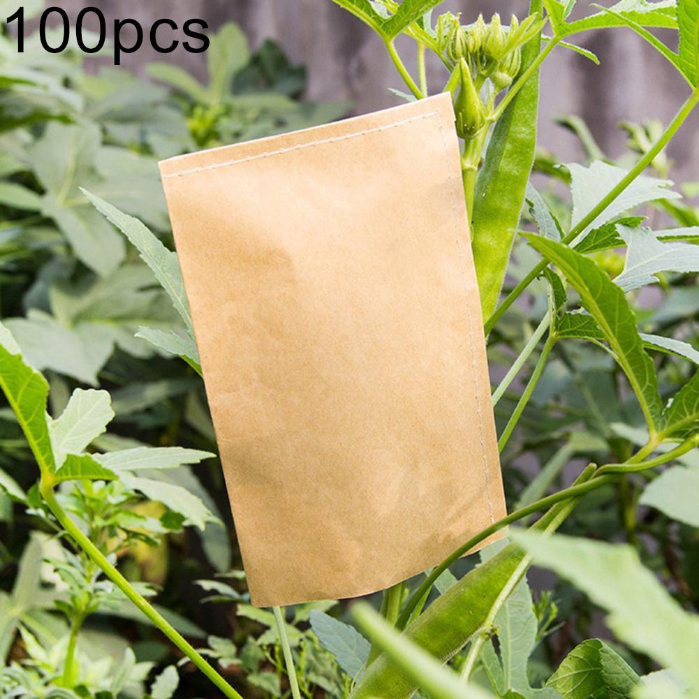 100Pcs Storage Kraft Paper Bags Plant Seeds Farm Pollen Sack Food Tea Pouch Birthday Party Dessert Candy Bag Snack Cookie Bag