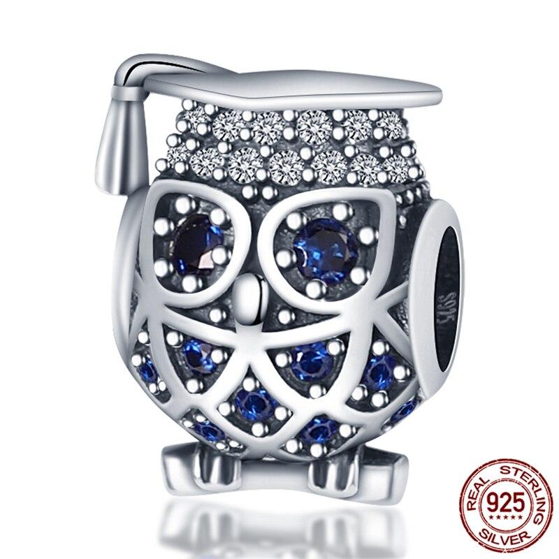 Горячая-Распродажа-925-стерлингового-серебра-доктора-и-блестящей-совой-браслеты-с-подвесками-и-соответственные-Европейской-оригинальный-мо