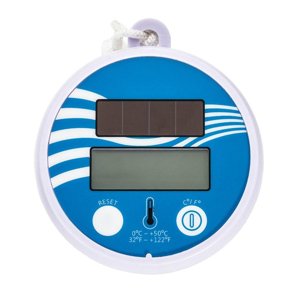 Водонепроницаемый цифровой ЖК-дисплей термометр беспроводной плавательный бассейн на солнечных батареях маленький плавающий аквариум дл...