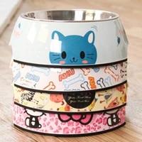 cat dog bowl stainless steel cat bowl detachable non slip puppy cats feeder non slip crashworthiness base pet bowls