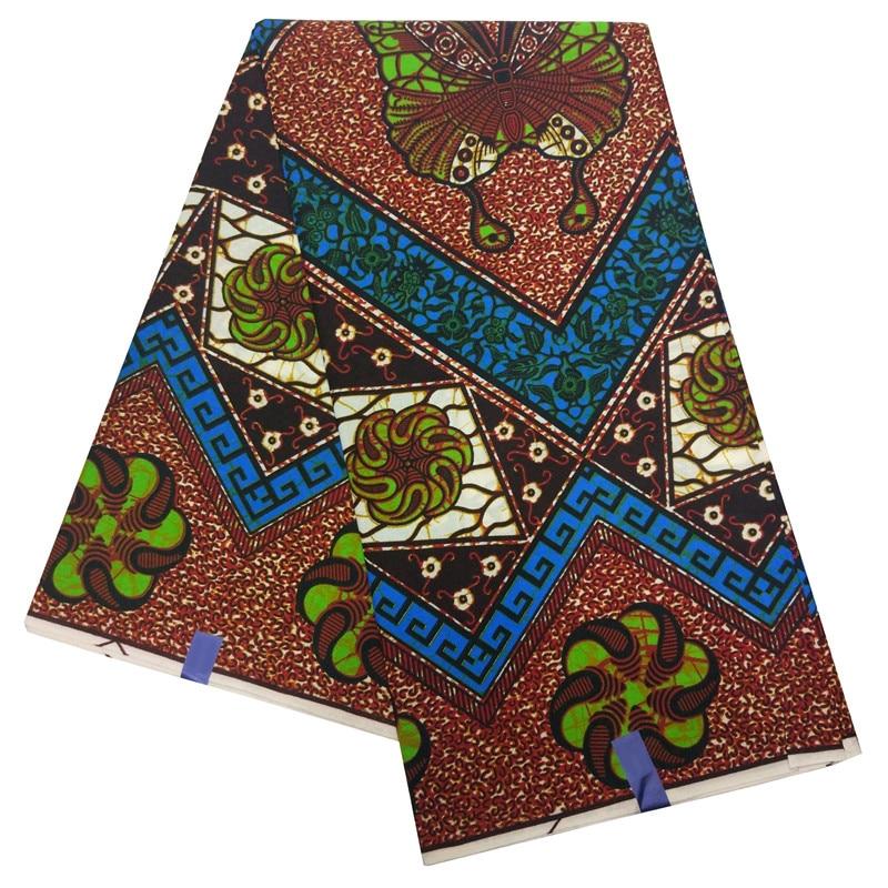African Fabric Veritable Wax Nigerian Ankara Printed Butterfly Print