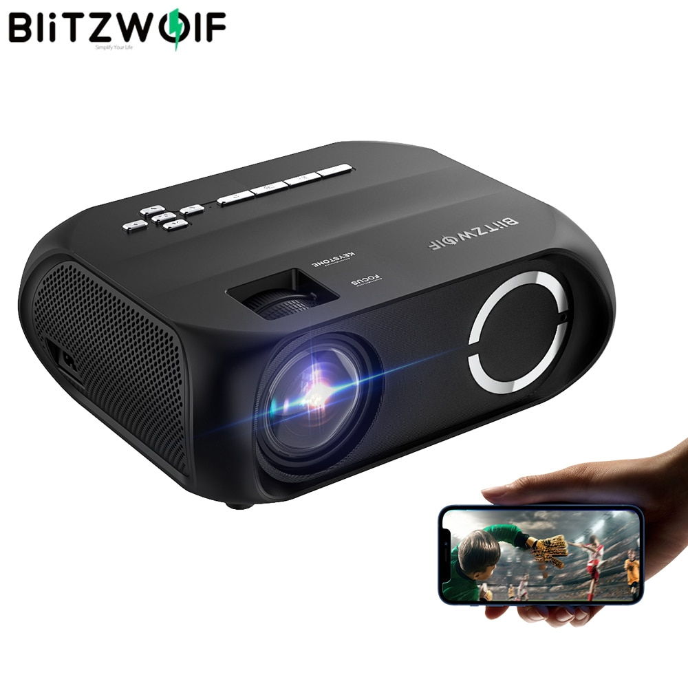 BlitzWolf BW-VP11 LCD LED HD Projector 1280x720P 200ANSI Home Cinema Outdoor Movie Projectors Wirele