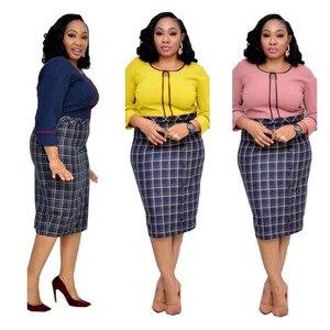 Women's African Fat Stitching Plus Size Midi Dress
