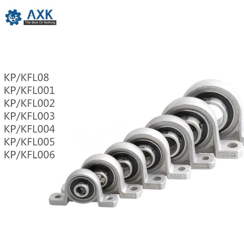 4pcs Zinc Alloy Diameter 8mm to 30mm Bore Ball Bearing Pillow Block Mounted Support KFL08 KFL000 KFL001 KP08 KP000 KP001 KP002