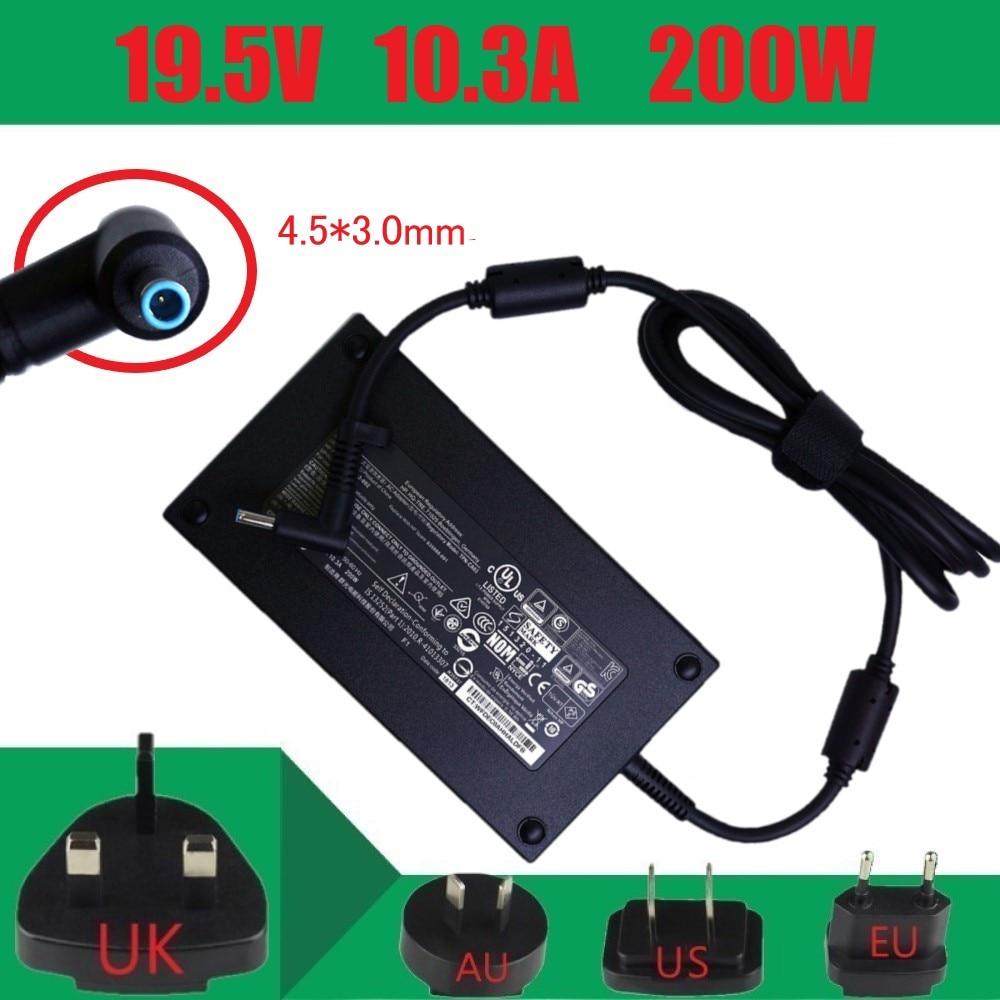 Carregador do portátil do adaptador de alimentação ca de 19.5 v 10.3a 200 w 4.5*3.0mm para hp zbook 17 g3 TPN-CA03 a200a008l 815680-002 835888-001