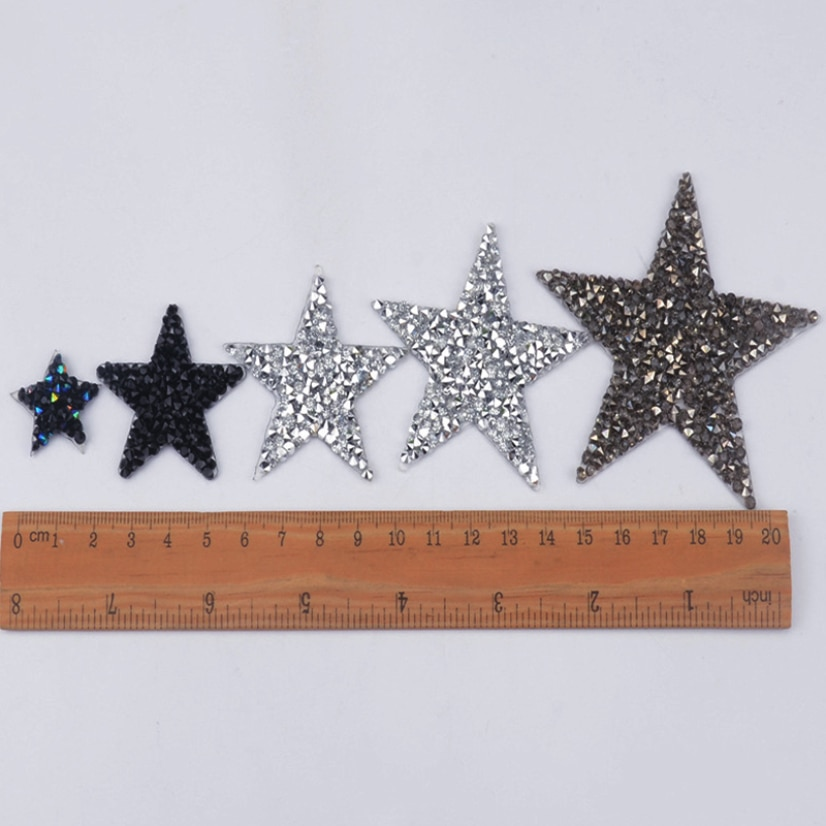 Diy Craft Heart Star Shape Patches Rhinestone Patchwork Creativity Sewing Material Sewing Accessories Clothing Stickers