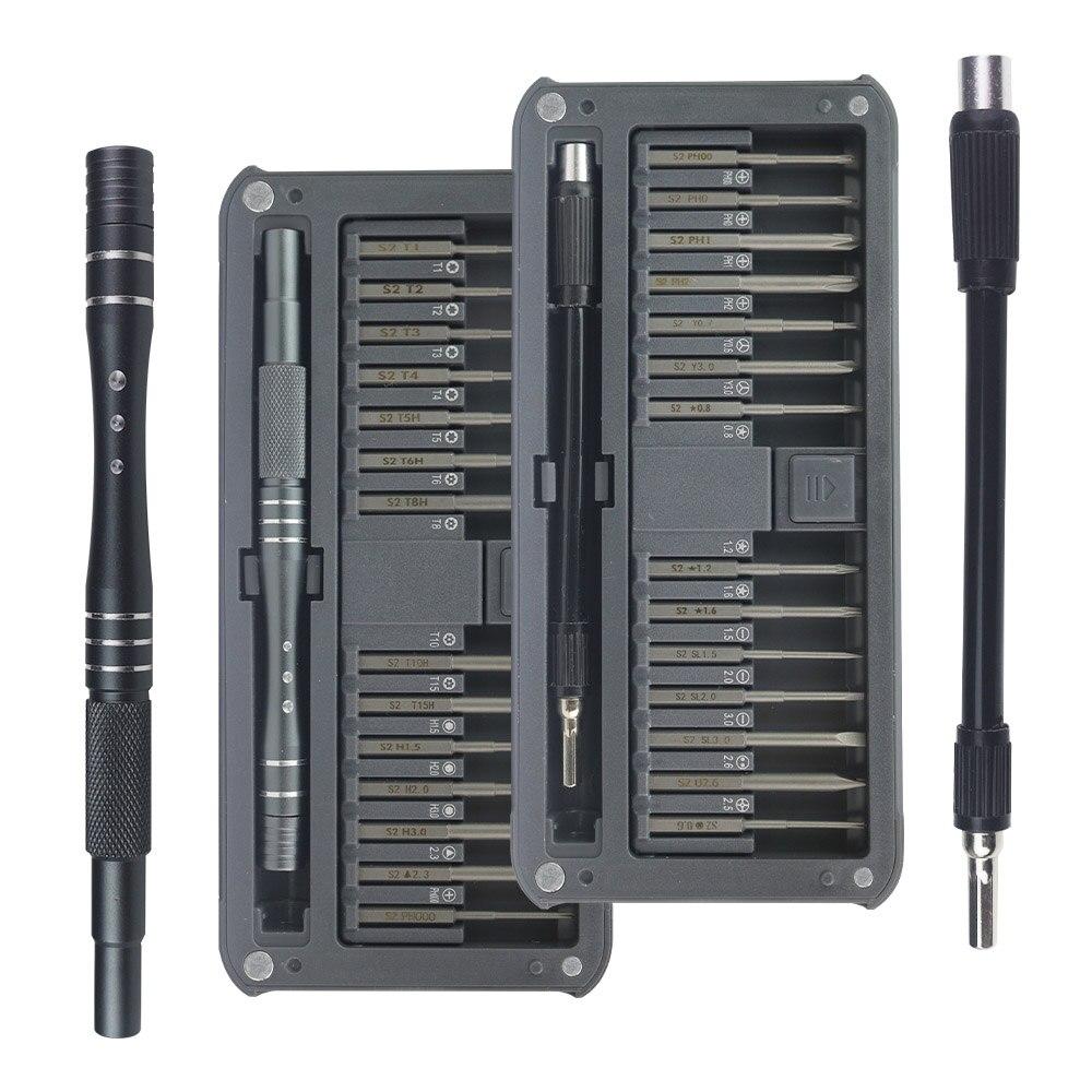 Chave de fenda Bit Set 30 in1 Chave Torx chaves de Fenda Magnética Mini Precisão Chave De Fenda Ferramentas Manuais de Reparação para Óculos Telefone