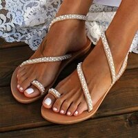 sandals for women sexy sandals ladies flat shoes sweet bohemian sandals summer breathable casual beach slippers fashion