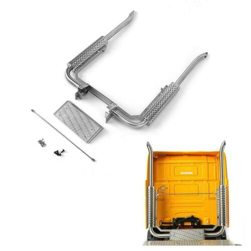 Escape de Metal LESU para 1/14 RC TMY SCA R470 R620, Tractor, camión, remolque, TH14127-SMT3