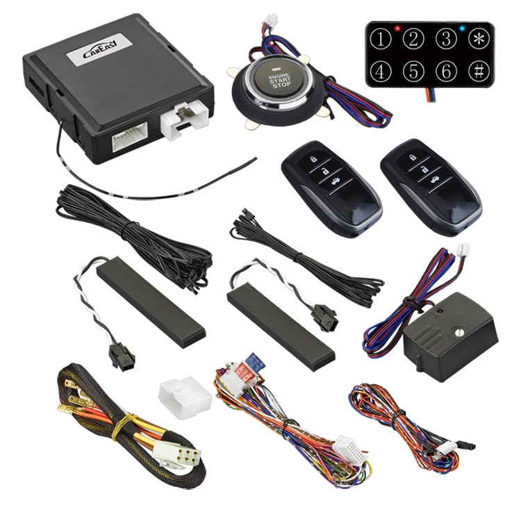 Most powerful Functions Keyless Entry System Push Button Start Stop Remote Starter Smart Key PKE Car  with Toyota remote